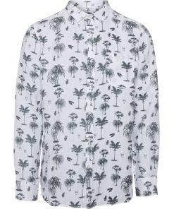 Knowledge Cotton Apparel Shirt Palm Green