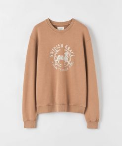 Tiger Jeans Tana Print Sweatshirt Brown