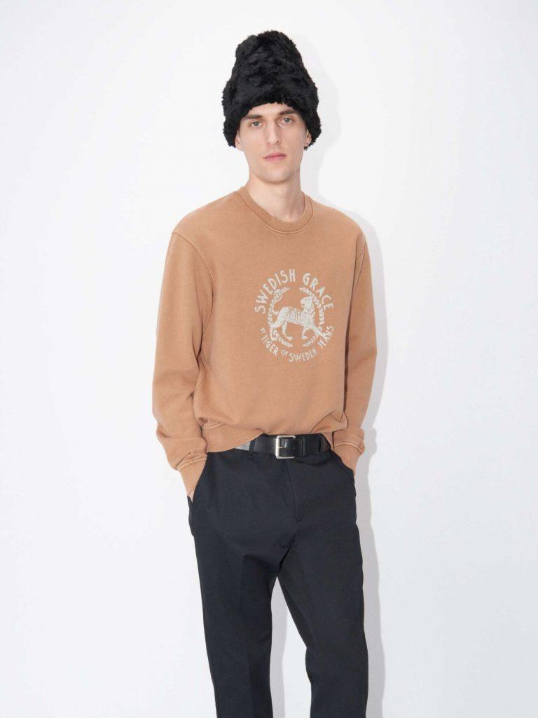 Tiger Jeans Tana Print Sweatshirt Brown