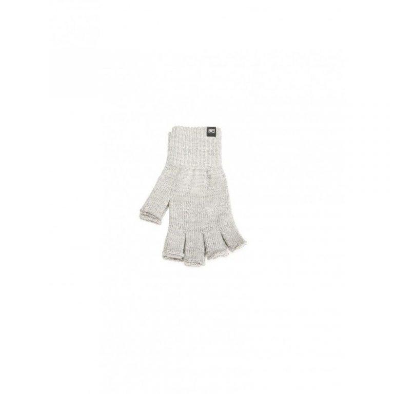 Makia Flag Wool Fingerless Gloves Grey