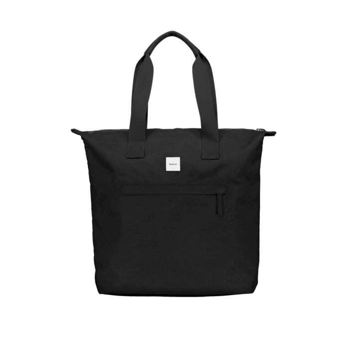 Makia Zip Tote Bag Black Black