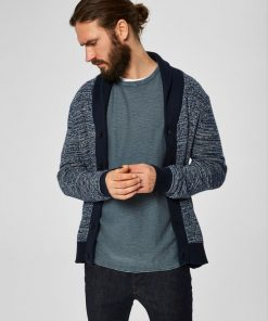 Knitted vests and cardigans