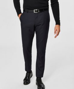 Selected Slim-Mylohigh Navy Trousers Dark Blue