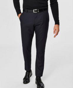 Selected Slim-Mylohigh Navy Trousers Dark Blue