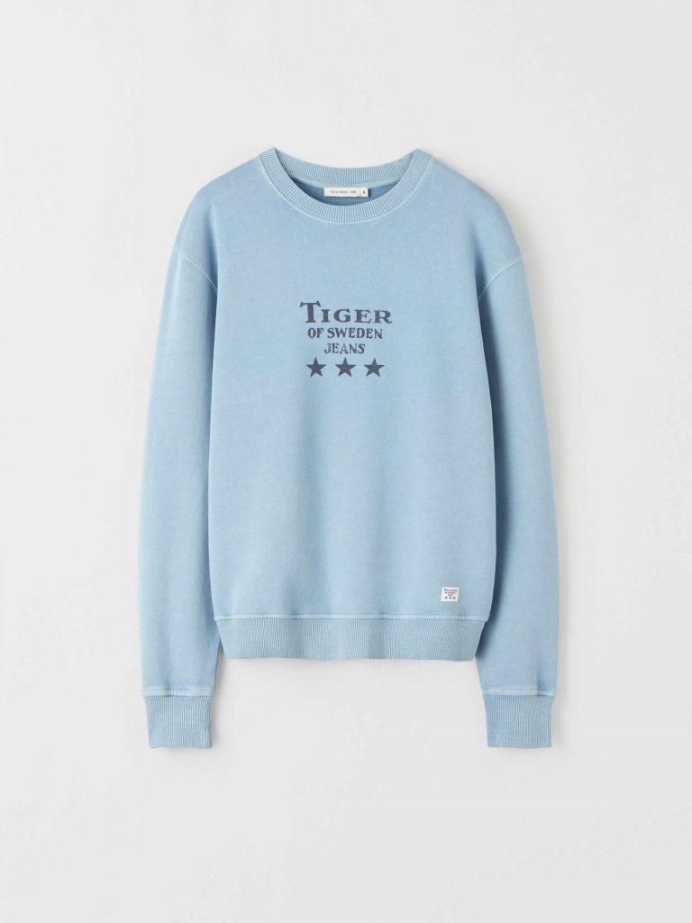 Tiger Jeans Tana Sweatshirt Rain Pale Blue