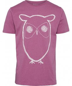 Knowledge Alder Big Owl T-shirt Fuchsia
