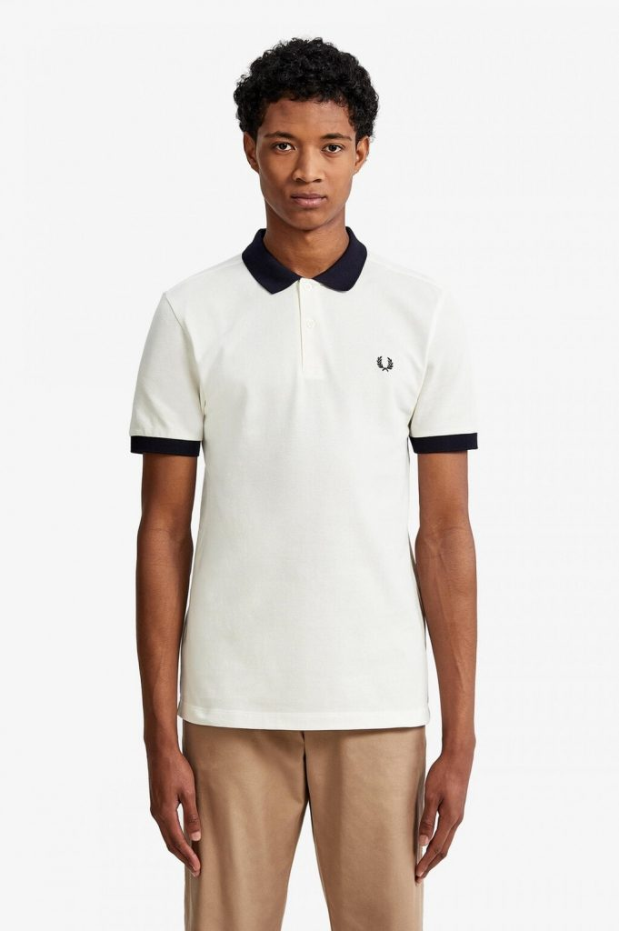 Fred Perry Color Block Pikee White