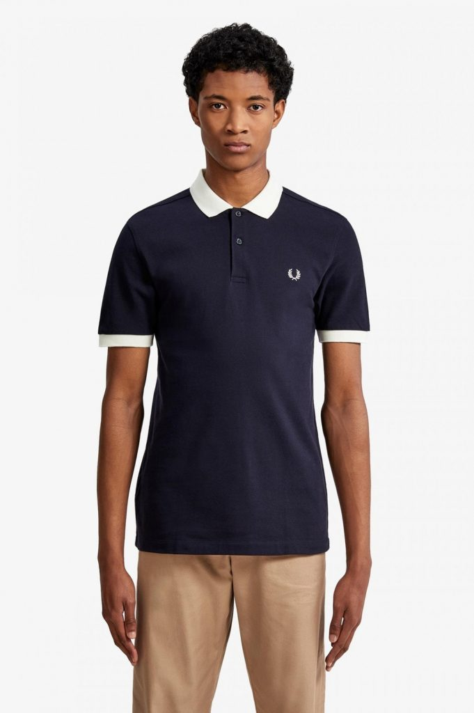 Fred Perry Color Block Pikee Navy