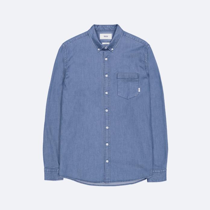 Makia Archipelago Shirt Pale Blue