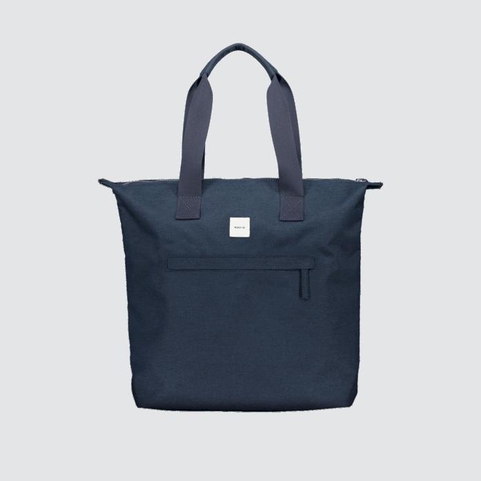 Makia Zip Tote Bag Navy Dark Blue