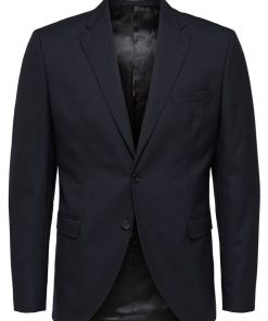 Selected Slim-Mylohigh Blazer Dark Blue