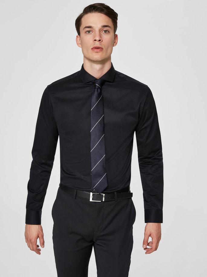 Selected Slimsel-Pelle Shirt Ls Black
