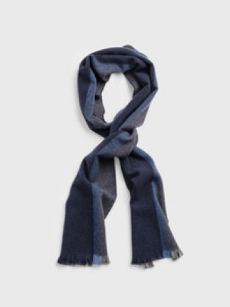 Gant Striped Wool Scarf Grey
