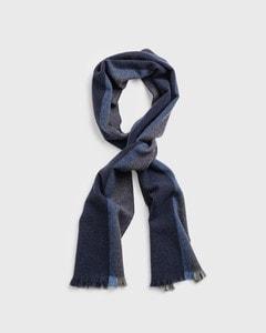 Gant Striped Wool Scarf Grey