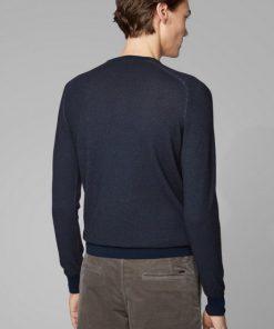 Hugo Boss Akustor Knitted Sweater Dark Blue
