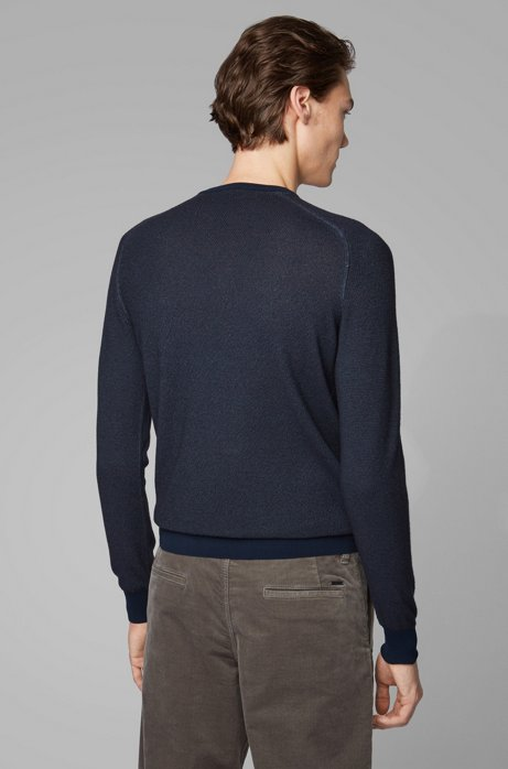 Hugo Boss Akustor Knitted Sweater Dark Blue