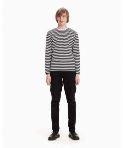 Marimekko Pitkähiha Tasaraita Jersey Shirt Black