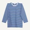 Marimekko Pitkähiha Tasaraita Jersey Shirt Blue
