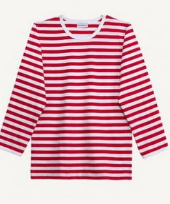 Marimekko Pitkähiha Tasaraita Jersey Shirt Red