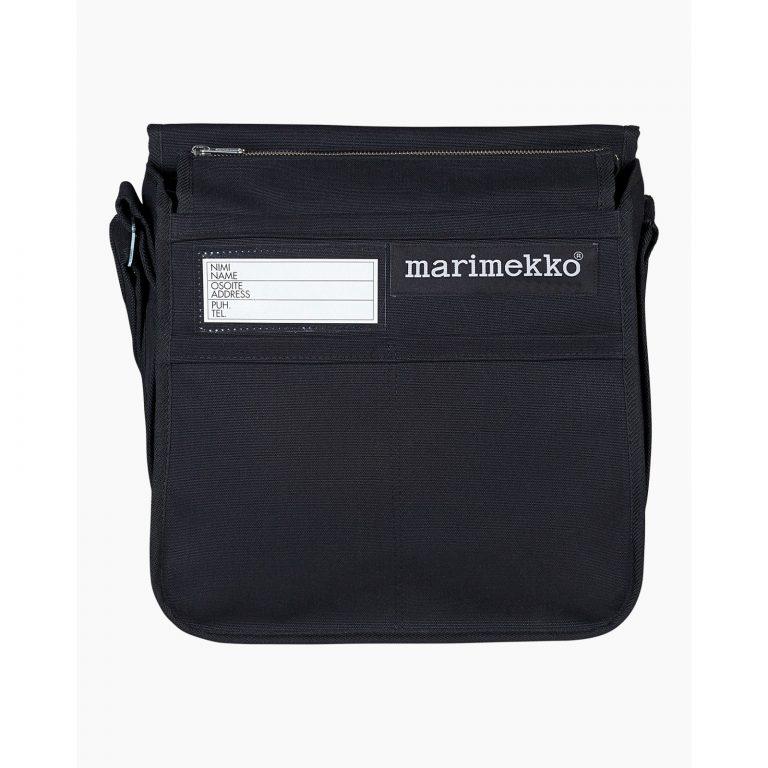 Marimekko Canvas Shoulder Bag Urbaani Black
