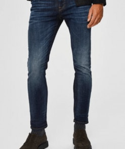 Selected Slim-fit Jeans Leon Blue