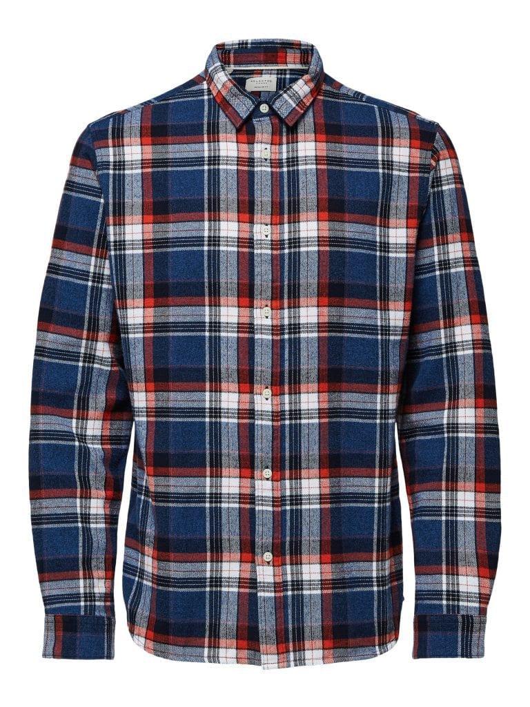 Selected Reggunnar-Niels Shirt Blue