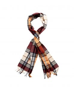 Gant checked wool scarf