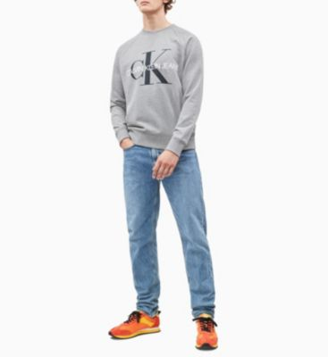 Calvin Klein Jeans Monogram logo Sweater Light Grey