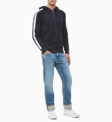 Calvin Klein Jeans Monogram Tape Hoody Black