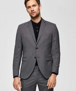 Selected Slim Mylologan Blazer Dark Grey