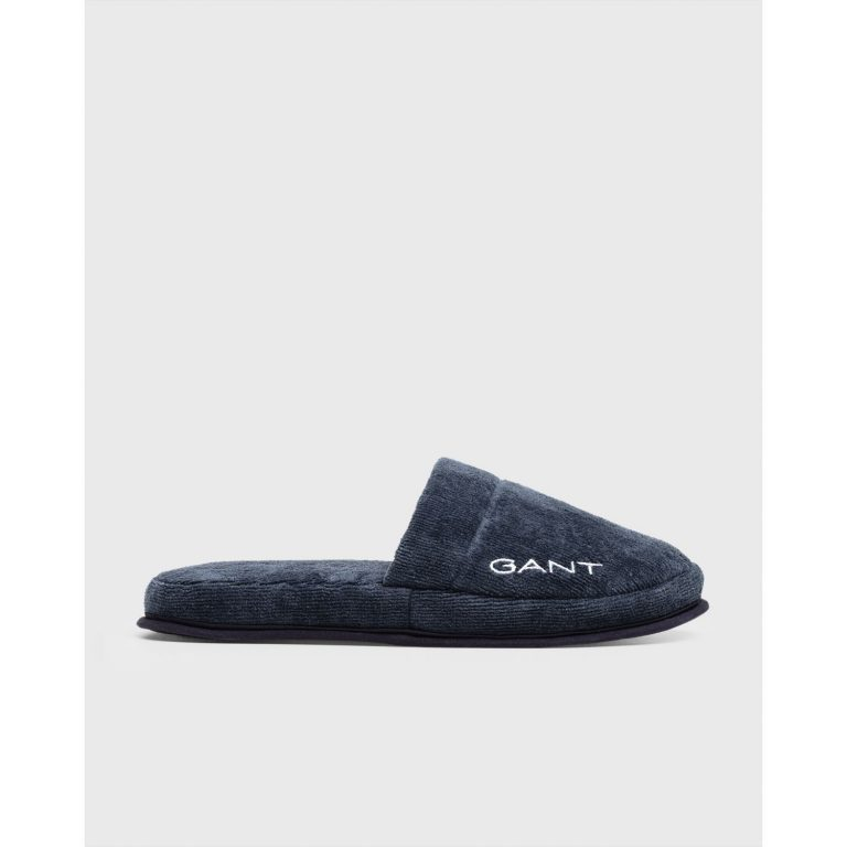 Gant Home Premium Velour Slippers Dark Blue