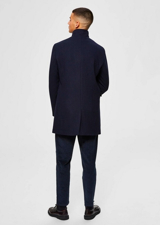 Selected Mosto Wool Coat Dark Blue