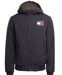 Tommy Jeans Padded Nylon Jacket Black