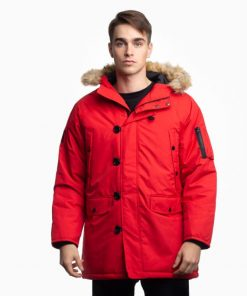 Billebeino parka coat red