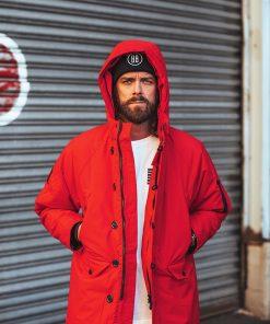 Billebeino parka coat red
