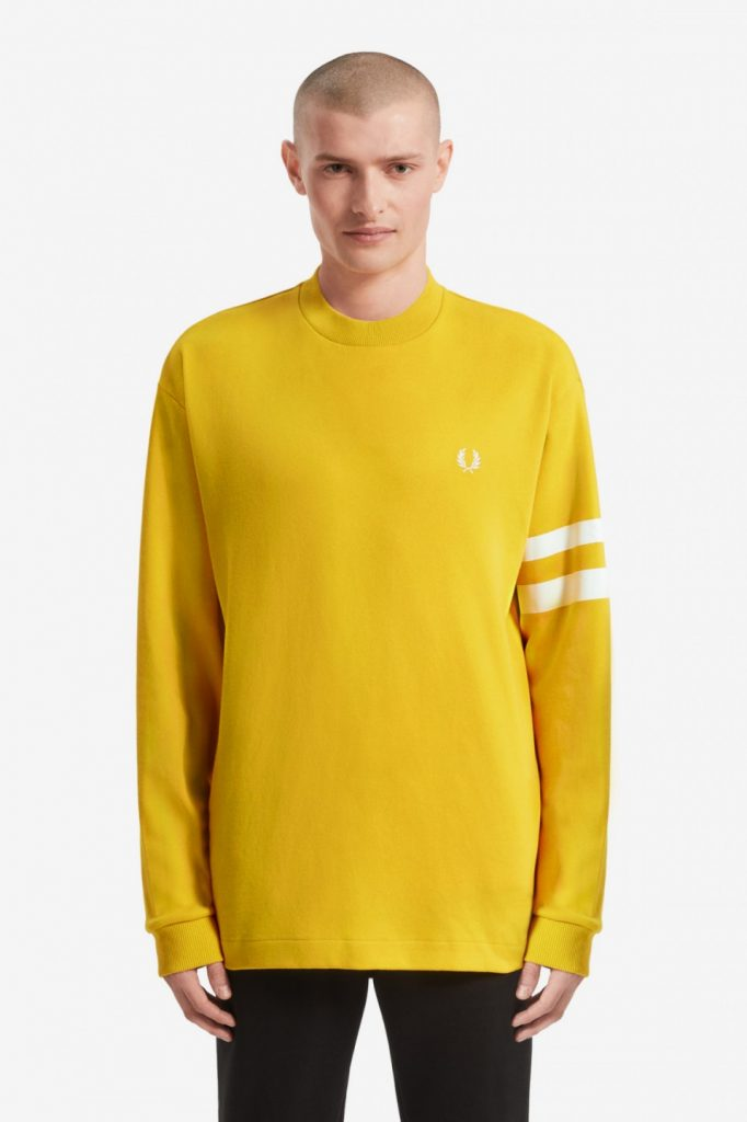 Fred Perry Tipped Sleeve T-Shirt Yellow
