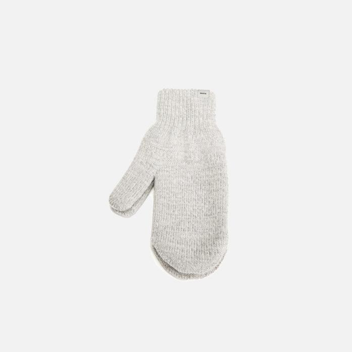 Makia Wool Mittens Light Grey