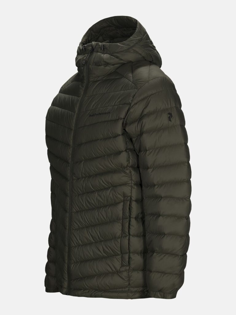 Peak Performance Frost Down Hood Jacket Dark Green