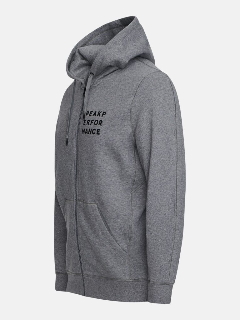 Peak Performance Ground Zip Hood Grey