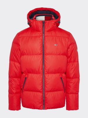 Tommy Jeans Essential Down Jacket Red