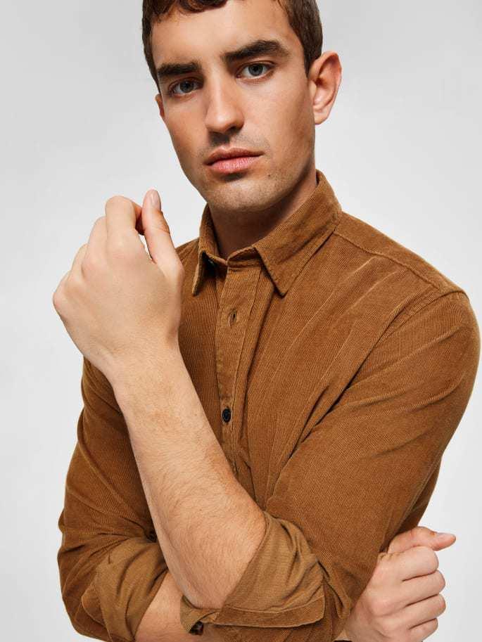 Selected Corduroy Shirt Brown