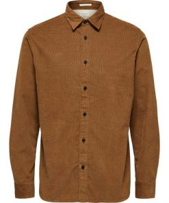 Selected Corduroy Shirt Brown