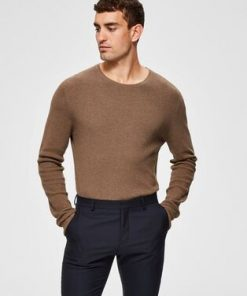 Selected Dante Crew Neck Brown