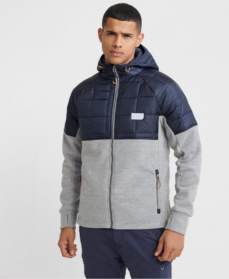 Superdry Polar Fleece Hybrid Grey