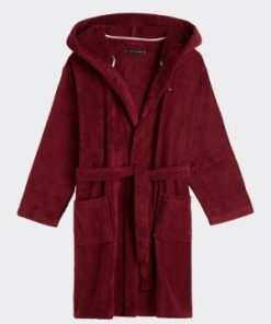 Tommy Hilfiger Towelling Robe Wine