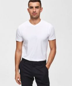 Selected V-Neck Tee White
