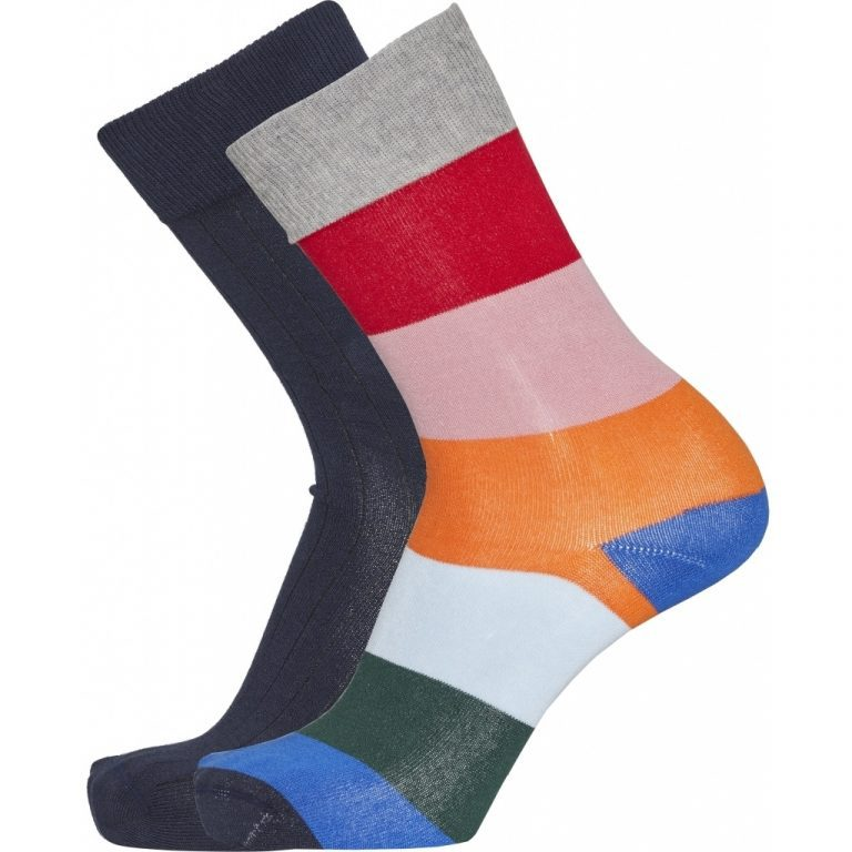 Knowledge Cotton Apparel Timber 2-Pack Striped Socks