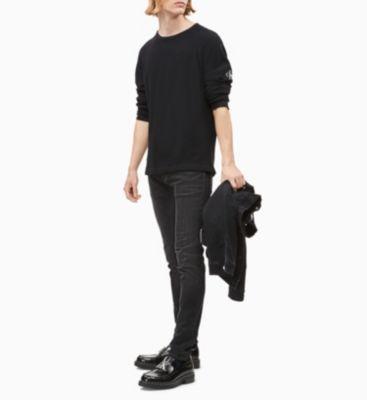 Calvin Klein Jeans Monogram Sleeve Black