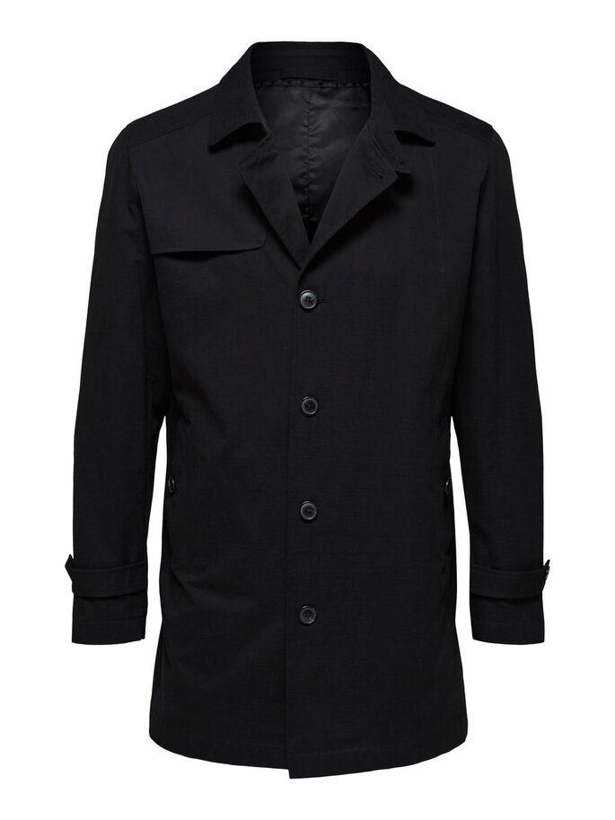 Selected Timeless Coat Black
