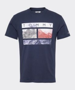 Tommy Jeans Photo Print Tee Dark Blue